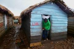 Kevin Nakato sampling mosquitoes on Nsadzi Island