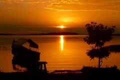 Sunset over Lutoboka on Bugala Island