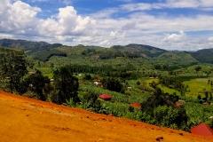 Farm lands in the Ugandan highlands